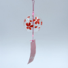 Glass Wind Chime, Red Flower, 8cm
